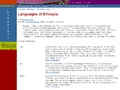 Ethnologue - Languages of Ethiopia